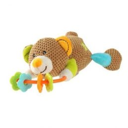BabyOno Jucarie de plus pentru dentitie cu zornaitoare - Ursulet