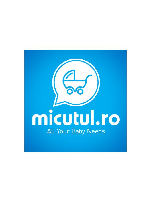 Klups patura de infasat bebelusi - alb/albastru K024