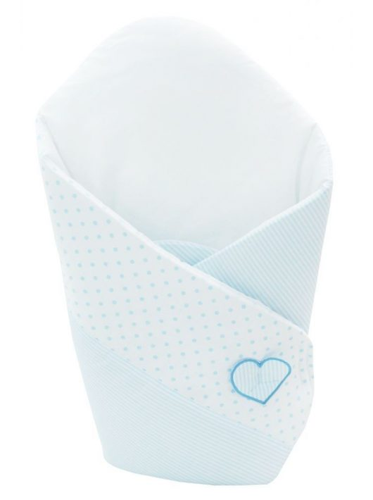 Klups patura de infasat bebelusi - alb/albastru ursulet H 138