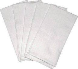 Scamp Scutece textile albe - 5 buc