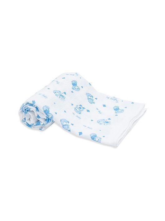 Scamp Scutece textile cu ursulet albastru - 3 buc
