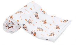 Scamp Scutece textile cu ursulet portocalie - 3 buc