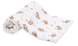 Scamp Scutece textile cu ursulet portocalie - 5 buc