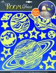 Room Decor Sticker de perete planete luminoase 38x31cm