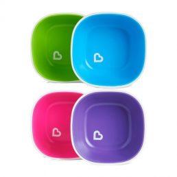 Munchkin Splash Set de 2 castroane - pink & violet / verde & albastru
