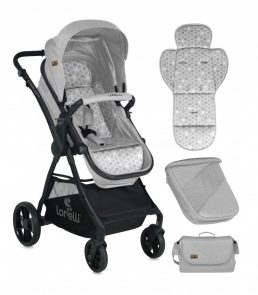 Lorelli Starlight SET Carucior transformabil 3in1 - Grey 2018