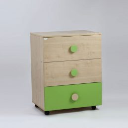 Bebe Design Comoda Domino Natur Verde Inchis