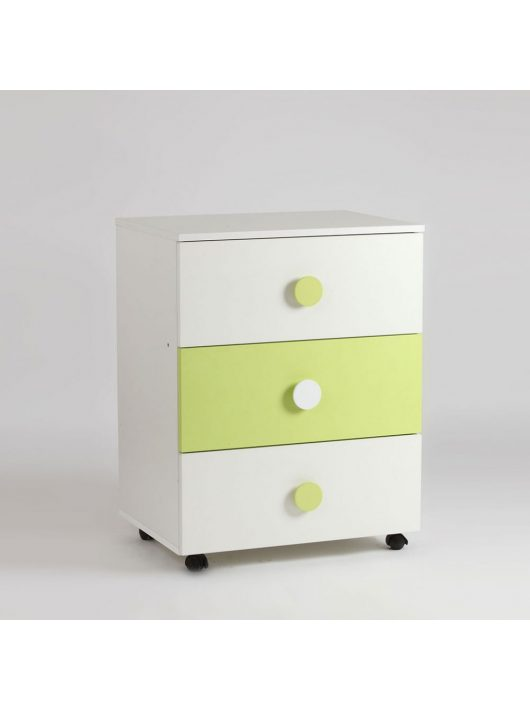 Bebe Design Comoda Domino Verde Deschis