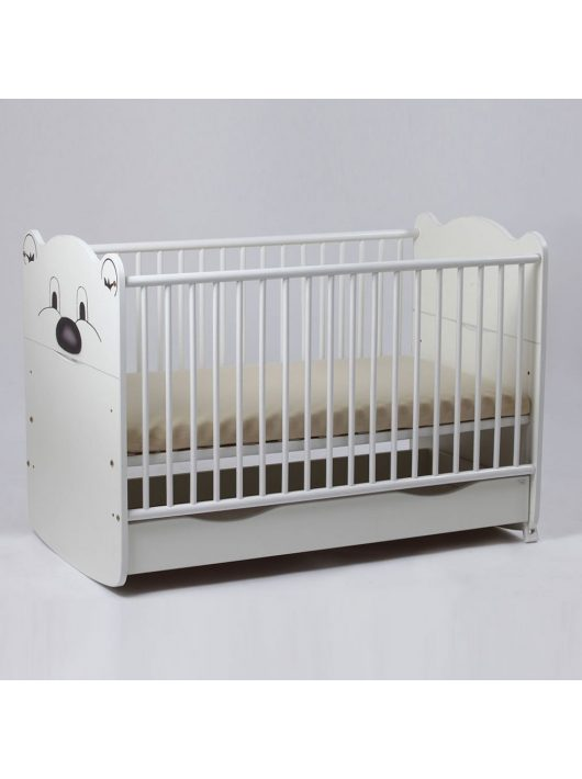 Bebe Design Teddy 60x120 cm patut alb